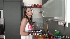 Girlfriends Hot blonde and brunette have hot lesbian sex in