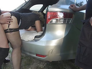 Jessica and Marion fucked and creampied by lots of strangers