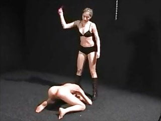 Pussy-whipped housework femdom - Pussy and asshole whipping