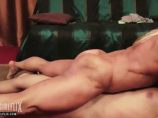 Sex with female bodybuilder - Massive female bodybuilder total cock domination