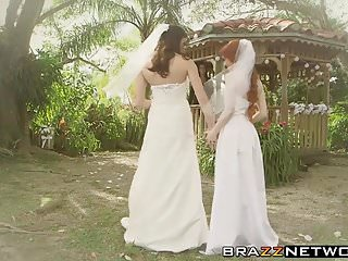 College fuckfest lesbians Dolly and kymberlee have a fuckfest after getting married