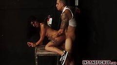 Sexy babe Gina Valentina gets a rough public pounding