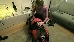 bdsm session with Rubber Chloe and M Jack