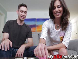 Brad swinger - Kacie castle gets down on her knees and sucks brads big cock