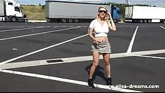 Flashing naked front of the truckers