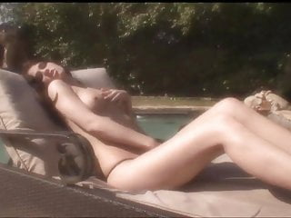 A great ass nude - Brunette with a great ass gets licked and fingered by the pool