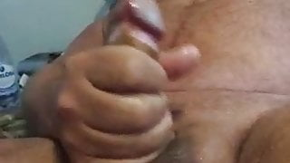Daddy Bear Cumiming while fingered