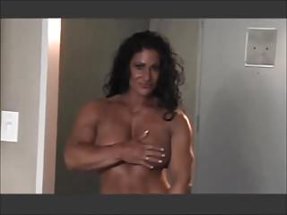 Erotic snake woman Muscle milf erotically posing