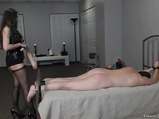 Erotic belt spankings - Mistress lydia spanks with belt and strap-on pegging