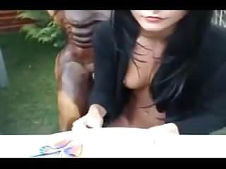 Greek sex statue - Camgirl fucks a wooden statue in her garden
