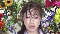Nishio Kaori & Anzu Yuu in japanese bukkake tv news