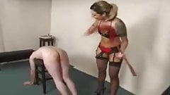 Mistress spreads cunt in slaves face