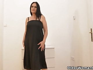 What squirrels have black strips - Euro milf ria black strips off and fingers her wet cunt