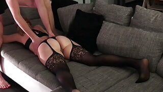 German Milf gets her tight pussy and ass fingered anal
