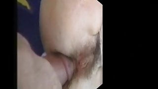 hairy ass takes it