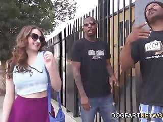 Pornstars fuck regular guys Elektra rose gets fucked by two black guys