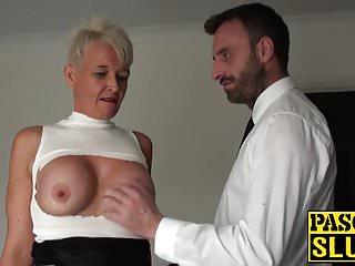 Couples trained sluts - Bdsm and bondage training for a horny milf slut in heat