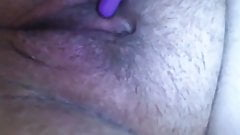 Playing with my bullet on my hard nipples & clit