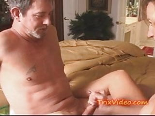 Reach around hand job gay - Milf gives a creamy hand job