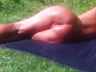 Naked outdoor amateurs - Old woman naked outdoor