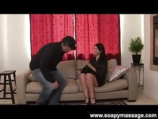 Asian and chinese sports Sports fan gets a soapy massage