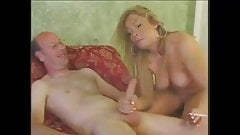 AMAT smoking and sucking white cock
