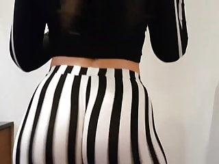 Butterface teen porn Butterface twerking in stripped tights