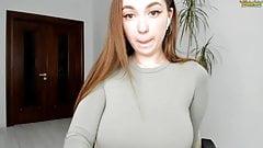 Menina na webcam