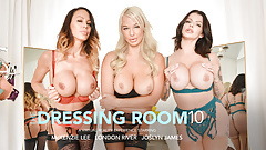 Naughty America - Three hot MILFS fuck in the dressing room
