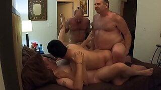 BeartoyLA's 5-way daddy orgy - Part 1