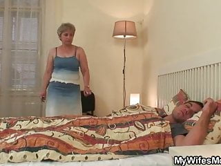 Mother fuck son in law Cock hungry granny fucks her son in law