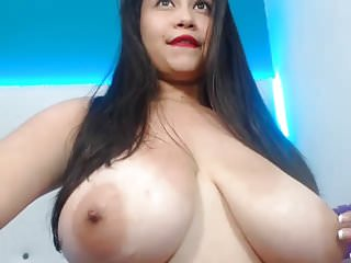 Long nipples lactating on huge tits Beautiful girl, huge lactating tits