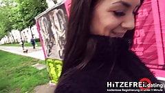 HITZEFREI.dating STREET-FUCK with GERMAN Brunette LULLU GUN