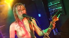 Topless singer tit-jiggling and bouncing them on stage