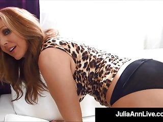 Boob large world - World famous cougar julia ann gets a load of cum on boobs
