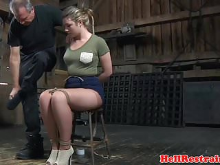 Pierce brosnan grabs breasts - Breast bonded restrained sub gets ass caned