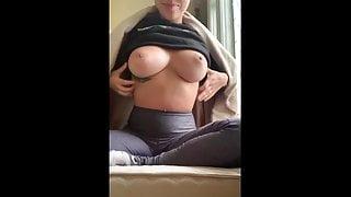 Cute Yellowbone Ebony With Pretty Tits