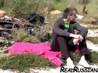 Pussy lips real russians - Hot amateur euro couple enjoy fuck outdoor