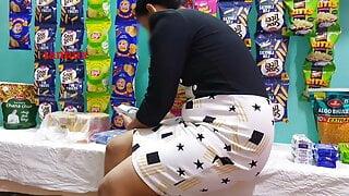 Grocery shop girlfriend fucking with boyfriend – quick sex