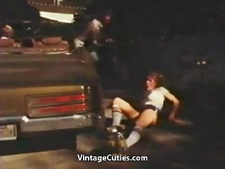 Gay skate board - Two big dicks fucking roller skating girl 1970s vintage