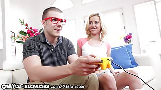 OnlyTeenBlowjobs Gamer Teen Throats Geeky Friend