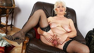 Busty 72 year old step mom shows her big meat hole