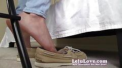 POV dangling dipping shoe play with POV feet tickling