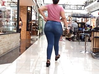 Phat ass tight jeans - Latina phat ass pulling up those jeans
