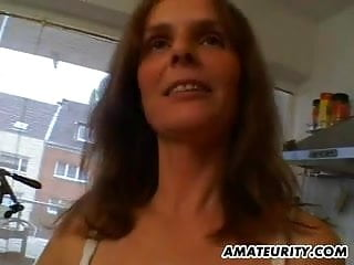 Hot amateur milf videos Hot amateur milf gets fucked in her kitchen