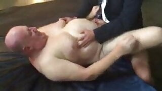 Daddy with nice tits fucked good