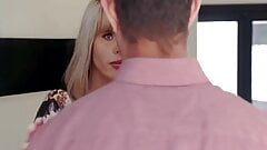 Blonde milf sucks dong