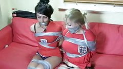 Tape mummified soccer girls