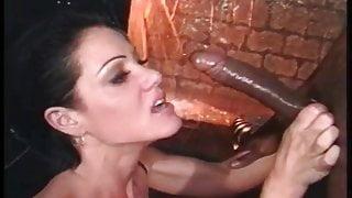 Classic horny deepthroat cumshot and swallow