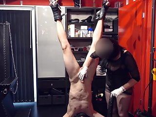 Anal hook usage bdsm suspension - Huge load, upside down fisting, suspension fisting, hanged